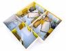 Seniorenheim Schlossblick - 1 Bett Zimmer 3D: Vergrößerung in einer Lightbox öffnen