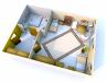 Seniorenheim Schlossblick - 2 Bett Zimmer 3D: Vergrößerung in einer Lightbox öffnen